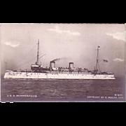 "RPPC "" USS Minneapolis "" Postcard"