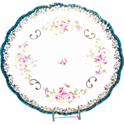 Antique 1890-1900 Plate w/ Old Fashioned Roses Motif