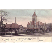 "Postcard ""Michigan Central Depot Bay City, Mich"""