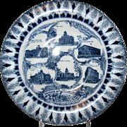 """Blue & White Souvenir Plate """"Denver Colorado"""""""