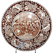 """Brown & White Historical Plate of """"Patrick Henry"""""""