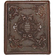 19th Century Hard Bakelite Photo Case with Image of woman