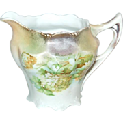 Unmarked Early RS Germany Floral Hydrangea Creamer