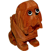 Carved Wooden Little Doggie Needs Good Home