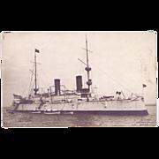 "Real Photograph Postcard  ""U.S.S. Olympia"" (C-6)"