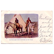 "Native American Postcard ""Indian Squaws- Esther Steals the Bear and Otter Woman"""