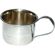 A Very Sweet Teeny Little Sterling Silver Baby Cup