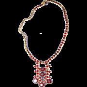 Deep Blood Red Stones / Garnets Necklace