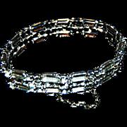 Sterling & Rhinestone signed Kramer Bracelet