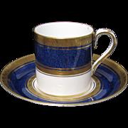 Exceptional Crown Staffordshire Demitasse Cup & Saucer Set
