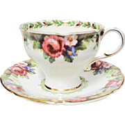 Beautiful Paragon Tapestry Rose Pattern Demitasse Cup & Saucer