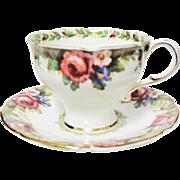 Beautiful Paragon Tapestry Rose Pattern Demitasse Cup & Saucer
