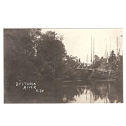 "RPPC Photograph of the  ""Nestucca River Oregon"""