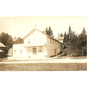 "RPPC Photograph of ""Scenic Grove Resort in Baileys Harbor Wisconsin"""