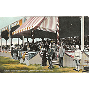 "Postcard of Kuroki Reviewing Marines, "" Jamestown Exposition 1907 """