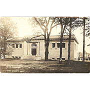 "RPPC Photograph "" Public Library in Forest Grove Oregon"""