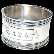 Coin Silver Heavy Napkin Ring