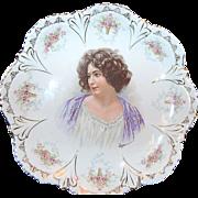 "circa 1890's 10 5/8"" Portrait Plate marked ""Empire China """