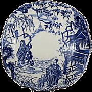 "Royal Crown Derby 8 3/4"" x 8 5/8"" Square Cake Plate ( Blue Mikado ..."