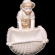 1890's German Adorable Bisque Little Sailor Boy Figurine