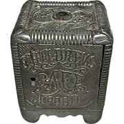 "1800's Cast Iron "" Childrens Safe Deposit Bank """