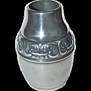 Small Silverplated Danish Design Cabinet Vase