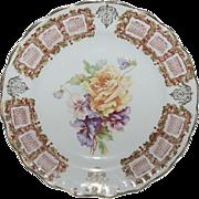 Beautiful Pristine 1909 Calendar Plate w/ Floral Design