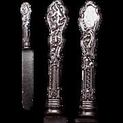 2 (1 pr.) Gorham Versailles Sterling Knives.