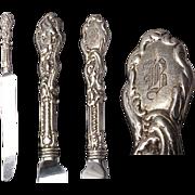 2 (1 pr.) Gorham Versailles Sterling Knives w/stainless Blades.