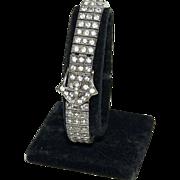 Sterling & Rhinestone Bracelet w/ Fancy Belt Buckle