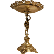 """Museum Quality 14 5/8"""" Tall Figural Austrian Silver Compote"""