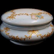 1890's Hand Painted Limoges France Powder Box / Jar