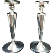 "1920's Sterling Silver 11 3/4""  Tall Elegant & Wonderful Candlesticks "" NOT WEIGHTED"