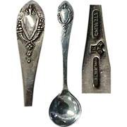 Mt. Vernon 1905 Sterling Silver Salt Spoon