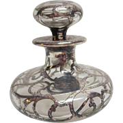 Sterling Silver Overlay Perfume Bottle