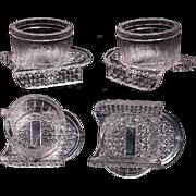 1890's Rare Figural Sled EAPG Salt