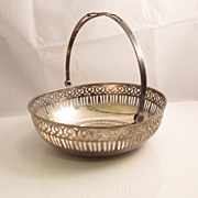 SALE Sterling Silver Pierced Bonbon Candy Basket