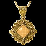 Vintage Sterling Silver Designer Necklace w/ Star Pendant