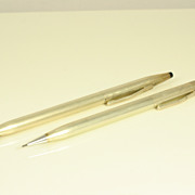 Vintage Set Pen & Pencil in Sterling Silver by Cross