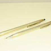 Vintage Set Pen & Pencil in Sterling Silver by Cross