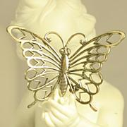Vintage Sterling Silver Butterfly Pin Brooch