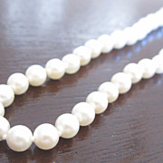 Vintage Cultured Pearls Necklace w/ 14k Yellow Gold Clasp