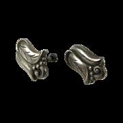Georg Jensen Alphonse La Paglia 925 Sterling Flower Earrings
