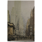 Luigi Kasimir Authentic Aquatint Etching 500 Fifth Avenue New York