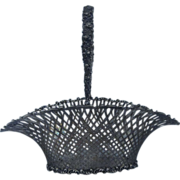 American Sterling Silver Pierced Latticework Fruit Basket