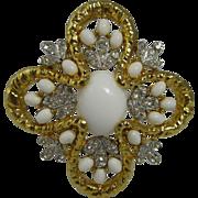 Vintage Gold Tone Jomaz Brooch Pendant