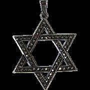 SALE Vintage Sterling Silver Jewish Star of David Pendant