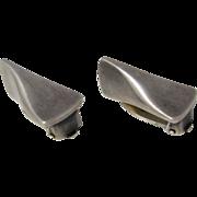SALE Modernist Design Georg Jensen Sterling Silver Clip-On Earrings # 116 B Denmark