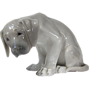 "Large Royal Copenhagen Porcelain Figurine Labrador Pup ""Bob"" # 318 Design by Christi"