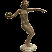 SALE Hutschenreuther Porcelain Figurine Nude Sun Child Statue Germany